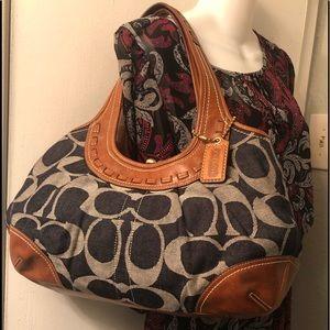 COACH ERGO Denim Signature Kisslock Bag & Flats